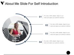About Me Slide For Self Introduction Example Of Ppt