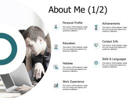About Me Work Experience J149 Ppt Powerpoint Presentation Diagram