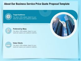 About Our Business Service Price Quote Proposal Template Ppt Inspiration