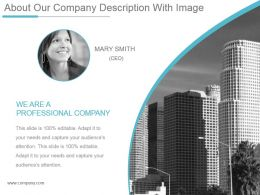 About Our Company Description With Image Powerpoint Guide