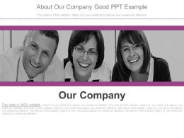 About Our Company Good Ppt Example