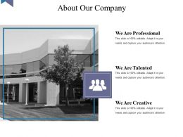 About Our Company Powerpoint Layout Template 2