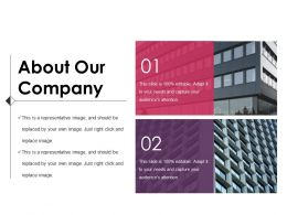 About Our Company Powerpoint Presentation Examples