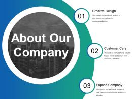 About Our Company Powerpoint Shapes Template 1