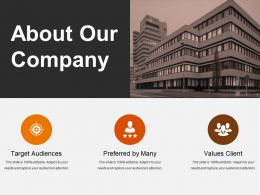 About Our Company Powerpoint Slide Background Designs