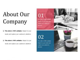 About Our Company Powerpoint Slide Information Template 1