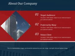 About Our Company Powerpoint Slide Presentation Sample