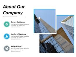 About Our Company Ppt Infographics Clipart Images