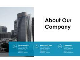 About Our Company Ppt Powerpoint Presentation Slides Portrait
