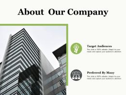 About Our Company Ppt Professional Example Introduction
