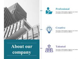 About Our Company Ppt Samples Download