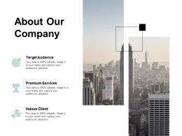 About Our Company Premium Services F237 Ppt Powerpoint Presentation Portfolio Slides