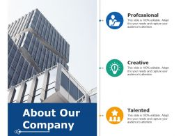 About Our Company Professional Creative Talented