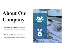 About Our Company Sample Presentation Ppt Template 1