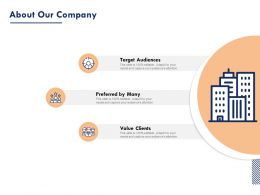 About Our Company Target Audiences Ppt Inspiration Graphics Example