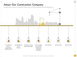About Our Construction Company M2562 Ppt Powerpoint Presentation Infographics Inspiration
