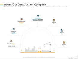 About Our Construction Company On Various Ppt Powerpoint Presentation File Styles