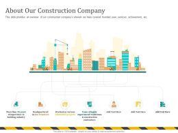 About Our Construction Company Tradesmen Ppt Powerpoint Presentation File Deck