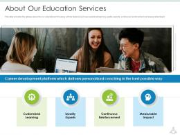 About Our Education Services Education Services Investor Funding Elevator