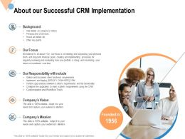 About Our Successful CRM Implementation Ppt Powerpoint Presentation File