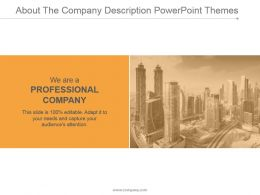 About The Company Description Powerpoint Themes