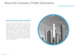 About The Company Profile Description Powerpoint Slide Clipart