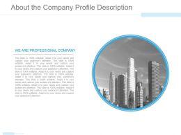 About The Company Profile Description Powerpoint Slide Clipart