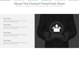 About The Product Powerpoint Show