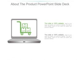About The Product Powerpoint Slide Deck