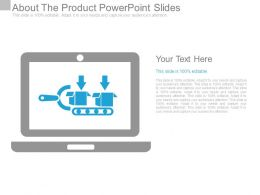About The Product Powerpoint Slides