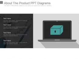About The Product Ppt Diagrams