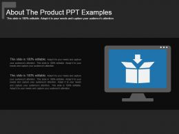 About The Product Ppt Examples