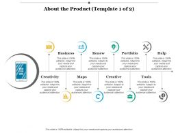 About The Product Ppt Infographic Template Background Images