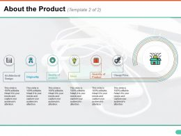 About The Product Ppt Inspiration Template