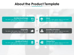 About The Product Template Originality Ppt Powerpoint Presentation Diagram Graph Charts