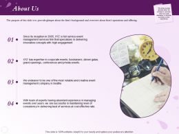 About Us Abundant Experience N129 Ppt Powerpoint Presentation Introduction