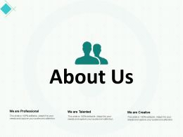 About Us Business Ppt Powerpoint Presentation Professional Deck