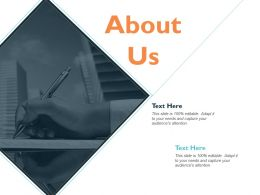 About Us Business Ppt Slides Graphics Template