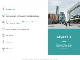 About Us Cloud M2821 Ppt Powerpoint Presentation Gallery Examples
