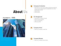 About Us Company Introduction Company Mission C1051 Ppt Powerpoint Presentation File