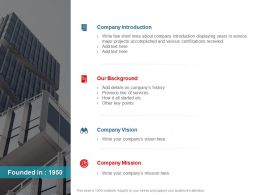 About Us Company Introduction Company Vision Ppt Powerpoint Presentation