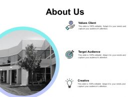 About Us Creative F698 Ppt Powerpoint Presentation Summary Smartart