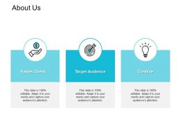 About Us Creative I297 Ppt Powerpoint Presentation Outline File Formats