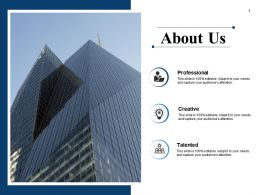 About Us Creative Ppt Powerpoint Presentation File Ideas