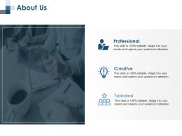 About Us Creative Ppt Professional Graphics Pictures