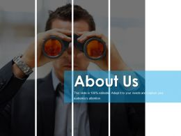 About Us Example Ppt Presentation Template 1