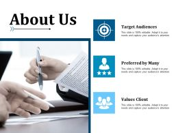 About Us Example Presentation About Yourself Target Audiences