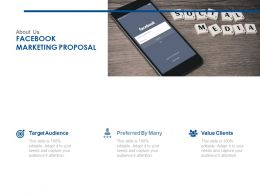 About Us Facebook Marketing Proposal Ppt Powerpoint Presentation File