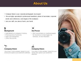 About Us Focus Business L512 Ppt Powerpoint Presentation Pictures Deck