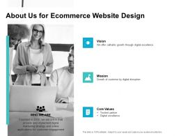 About Us For Ecommerce Website Design Ppt Powerpoint Presentation